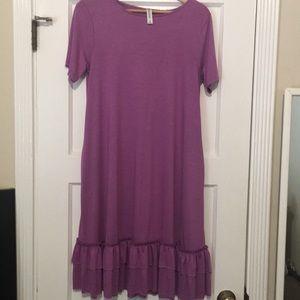 Zenana Outfitters Dress ruffle bottom Size M